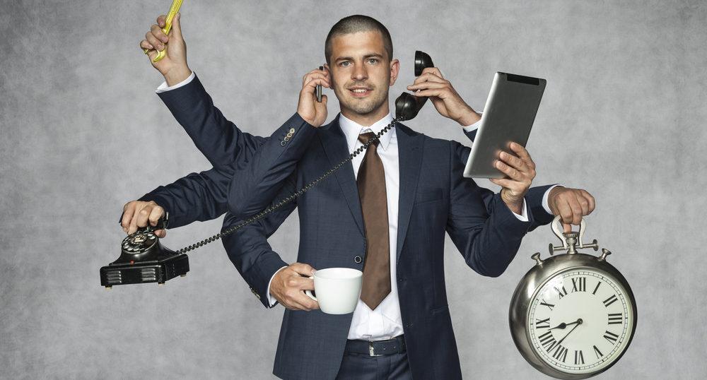 忙しいビジネスマン